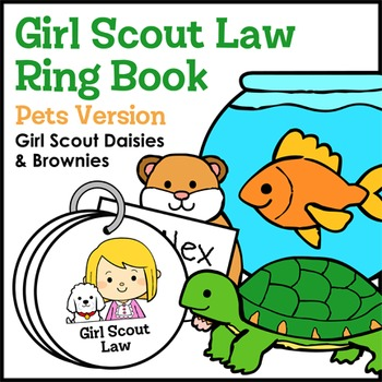 Girl Scout Law Ring Book - Pets Version - Girl Scout Daisies & Brownies