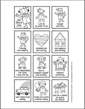 Girl Scout Law Ring Book - Robots Version - Girl Scout Daisies & Brownies
