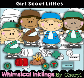 Girl Scout Littles Clipart Collection