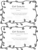 Girl Scout Parent Appreciation Award