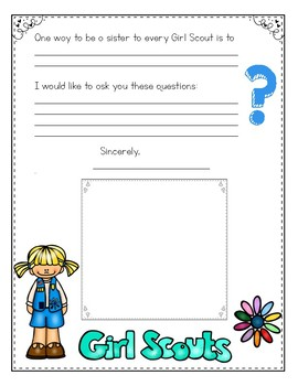 Girl Scout Penpal Letter for Daisies
