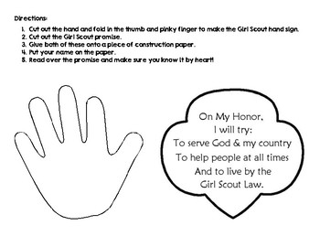 Vibrant image intended for girl scout promise printable
