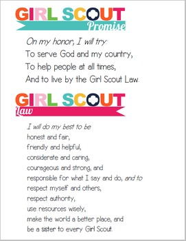 Girl Scout Promise & Law Printable