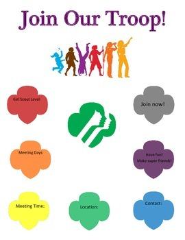 Girl Scout Recruitment Flyer
