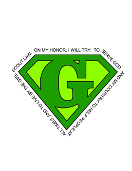 Girl Scout Superhero Green Logo Download