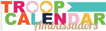 Girl Scout Troop Calendar Ambassadors Graphic