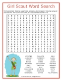 Girl Scout Word Search Puzzle