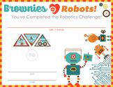 Girl Scout inspired Brownie Robotics Badges STEM Certificate