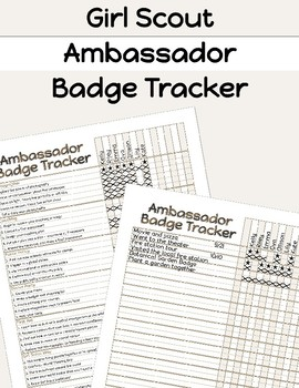Girl Scouts Ambassador Badge Tracker