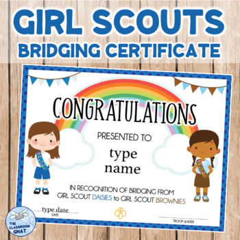 photograph relating to Girl Scout Certificates Printable Free called Lady Scout Bridging Certificates Worksheets Instruction