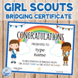Girl Scouts Bridging Certificate DAISY to BROWNIE