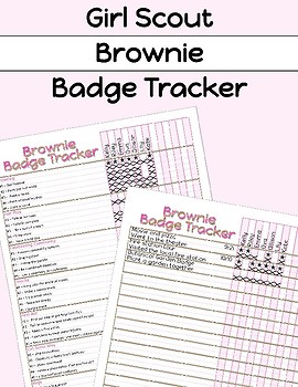 Girl Scouts Brownie Badge Tracker