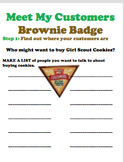 Girl Scouts Brownies - Meet My Customers Badge Activity Sheet