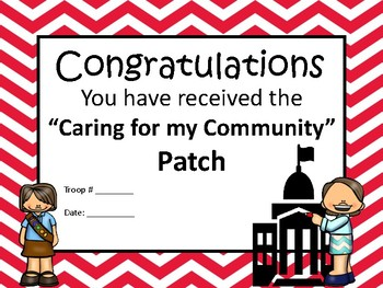 Girl Scouts Caring for Community Patch