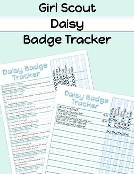 Girl Scouts Daisy Badge Tracker