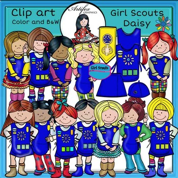 Girl Scouts Daisy-Color and B&W- 41 items!
