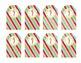 Holiday Tags Winter Wonderland Colors Girl Scouts Inspired