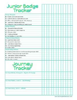 Girl Scouts Junior Badge Tracker