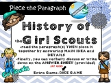Girl Scouts -MAIN IDEA  passage with puzzle AND dice game
