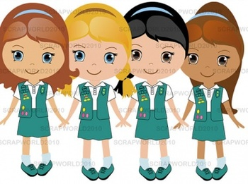 Girl Scouts green set 4png special price