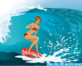 Girl Surfer Surfing Beach Surf's Up ocean party summer vacation hawaii sea -159