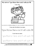 Girl Voting - Name Tracing & Coloring Editable Sheet - #60