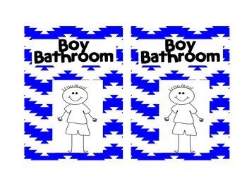 Girl and Boy Bathroom Pass