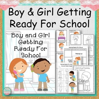 Girl and Boy Getting Ready For School
