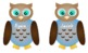 Girl and Boy Owl Name Tags
