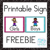 Girl and Boy Signs Freebie