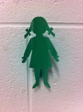 Girl and Boy Wall Clips (Set of 2)