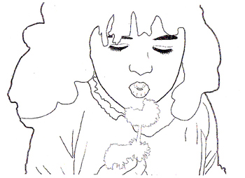Free Visual Art Handout: Girl and Dragon Gridding Worksheets