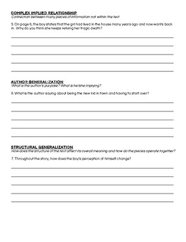 Girl at the Window by Richard Peck Activity Packet