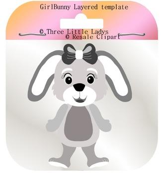Girl bunny template