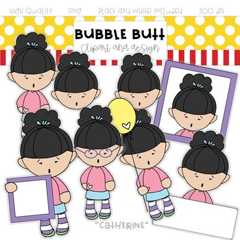 """Girl clip art """"Catherine"""" by Bubble Butt clip art and design"""