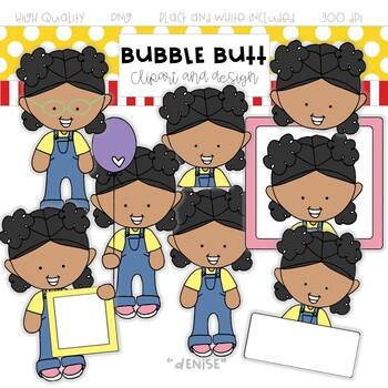 Girl clip art Denise by Bubble Butt clip art and design