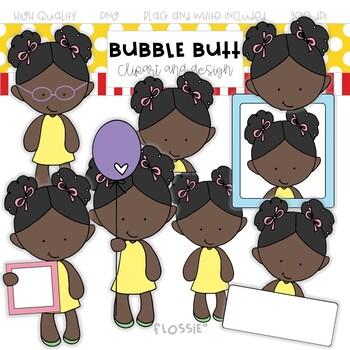 Girl clip art Flossie by Bubble Butt clip art and design