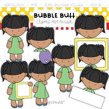 Girl clip art Glenda by Bubble Butt clip art and design