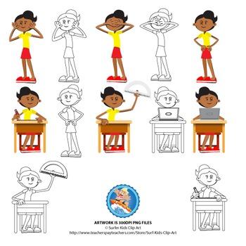 Girl in Classroom setting - Sandy Set 1