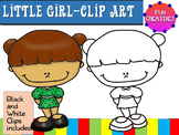 Little Girl-Free Clip Art