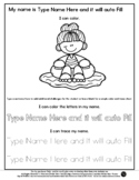 Girl on Float - Name Tracing & Coloring Editable Sheet #60