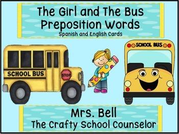 Girl on a Bus English+Spanish Prepositions