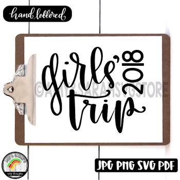 Girl's Trip SVG Design