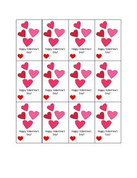 Girl's Valentine's Cards
