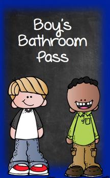 Girl's and Boy's Bathroom Passes