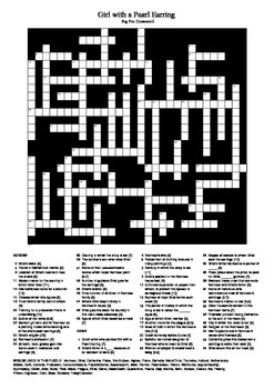 Girl with a Pearl Earring - Big Crossword