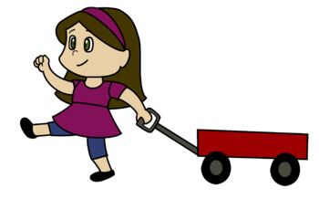 Girl with a wagon