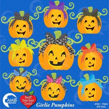 Halloween Clipart, Pumpkin Clip Art, Halloween Pumpkins Clip Art, AMB-148
