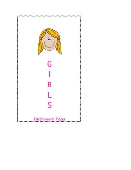 Girls Bathroom Pass