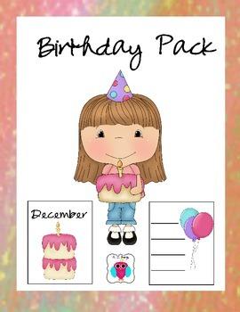 Girls Birthday Chart Pack